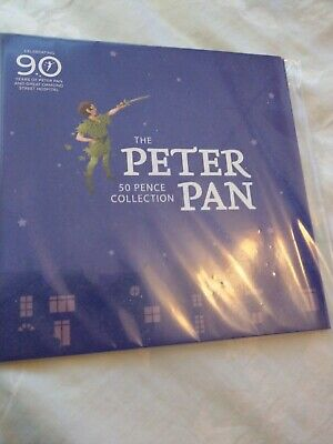 ISLE OF MAN 2019 PETER PAN 50p 6 COIN COMPLETE SET 90th ANNIVERSARY sealed