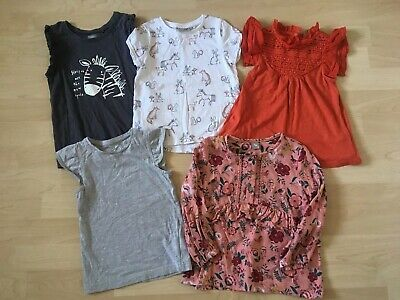 Toddler Girls Next Top/T Shirt Bundle, Age 3, Includes 5 Tops.