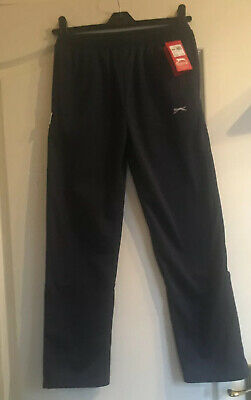 Slazenger Junior Boys Girls Navy Tracksuit Bottoms Joggers. Age 7-8. RRP £12.99
