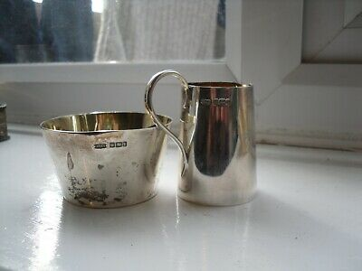 antique solid silver jug and bowl
