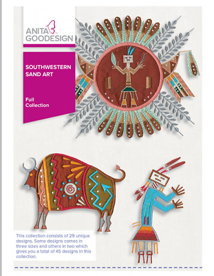 Anita Goodeisgn - Southwestern Sand Art Machine Embroidery Patterns