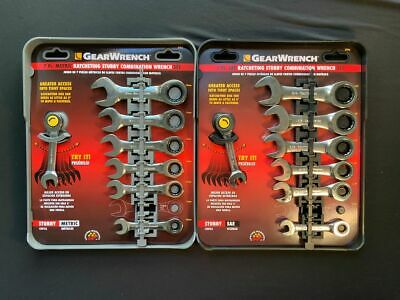 Gear Wrench 8700A,80710A SAE & Metric 14 Pc Stubby Wrench Set Life-Time warranty