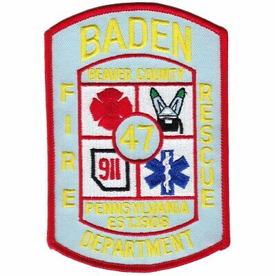 Pennsylvania - Baden Fire Rescue Department Station 47 Patch Beaver County PA