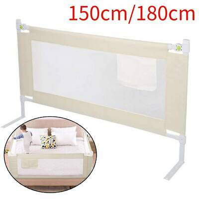 Kids Baby Guard Folding Lift Toddler Bed Rail Safety Protection Fence 150/180cm