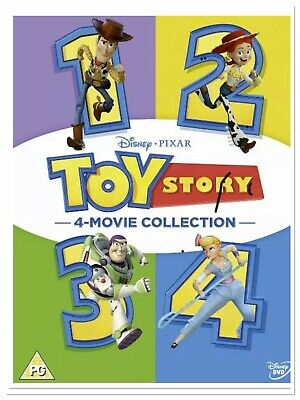 Toy Story 1-4 Complete DVD Box Set 4 Movie Collection new/sealed