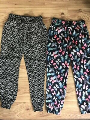 Girls Trousers Age 7-8 X2