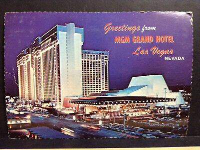 Greetings from MGM Grand Hotel Las Vegas Nevada Vtg Postcard Posted 1978 Strip
