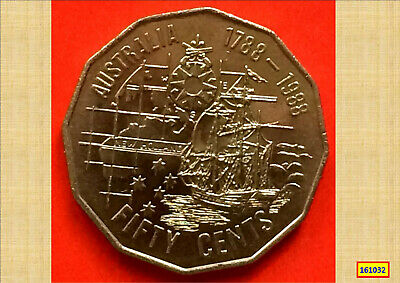 1988 Bicentenary 50 Cent Vf Coin – Tall Ships 161032...*