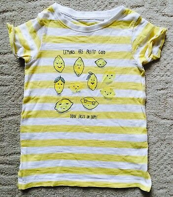 Girls Next cute little Lemons tshirt age 3 worn once  3 Summer Holiday  3