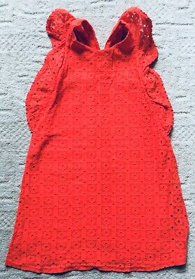 Girls Next Stunning Red Dress With Cross Back Detail Age 8 Hardly Worn 🖤