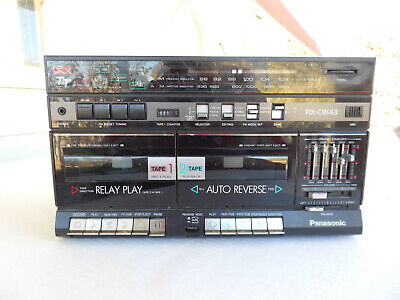Vintage Panasonic Portable Stereo AM FM Cassette Tape Player DJ Mixer Recorder