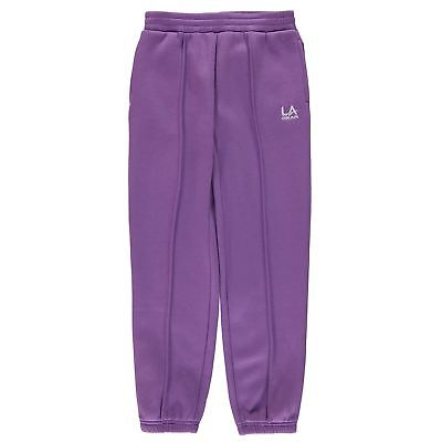 Girls purple jogger bottoms jogging tracksuit in age 7 8 9 10  LA Gear