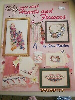18 Hearts + Flowers Designs Counted Crossstitch Patterns Charted 4 Dmc Thread