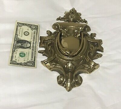 "Unique Design Door Knocker Victorian Style Brass 12"" By 7"""