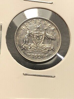 1926 Australian Florin Eight Pearls Centre Diamond Nice Grade