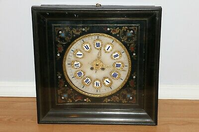 Stunning Antique Large Inlaid French Wall Clock