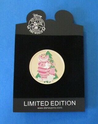 Disney Trading Pin DS - Christmas Golden Holiday Coin Series -  Cheshire Cat LE