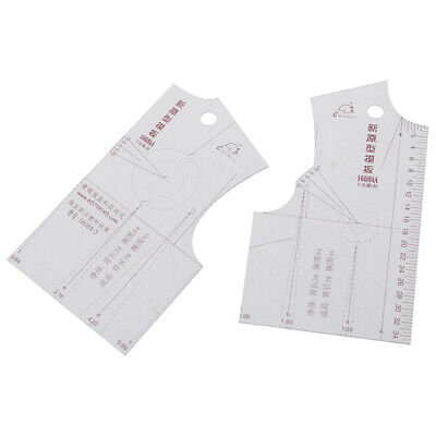 2pcs/set 1:5 Women Clothes Prototype Ruler Drawing Template Tailor Sewing T Gq