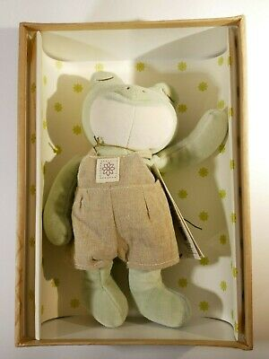 miYim Simply Organic cotton plush Green Frog in box soft baby toy NEW 9''