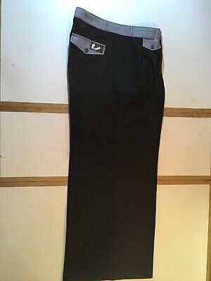 """Original Roxy Threads Oxford Bags Northern Soul Trousers Size 35"""""""
