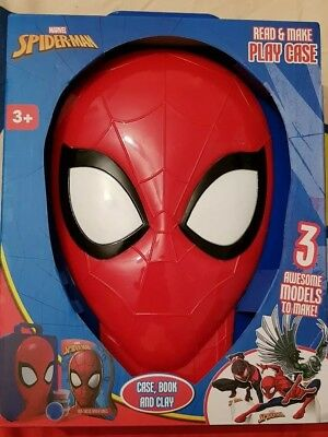 Spiderman Case, Book And Clay Set