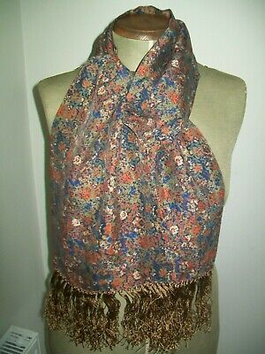 Very Pretty & Delicate Liberty Floral Print Design Vintage Silk Scarf