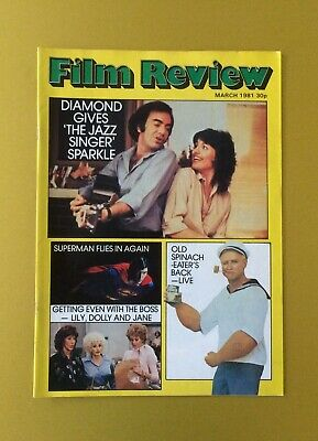 Film Review Magazine March 1981 Jazz Singer Popeye Cover