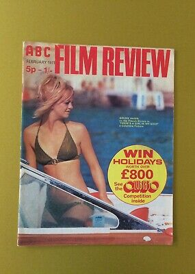Film Review Magazine ABC February 1971 Goldie Hawn Cover