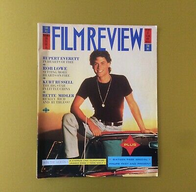 Film Review Magazine November 1986 Rob Lowe Cover Bette Midler