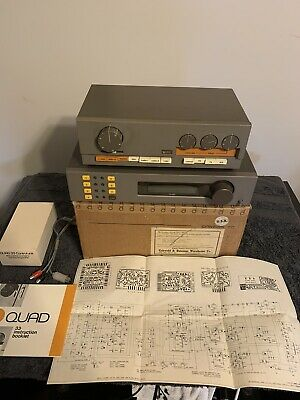 Vintage Quad 33 Stereo Preamplifier And Quad FM4 Tuner, In Nice Condition.