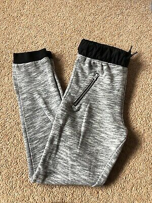 Girls Grey Black Joggers Jogging Tracksuit Bottoms Lounge Wear Casual Age 9-10