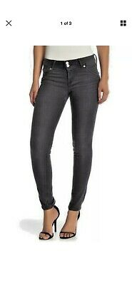 Hudson Collin Womens Faded Black Skinny Jeans In Weeks Wash 31 New