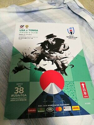 USA vs Tonga Rugby World Cup 2019 Japan Program Programme 10/13/2019 New England