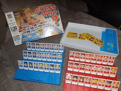 GUESS WHO VINTAGE 1987 BOARD GAME 1980s MB GAMES