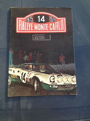 LANCIA RALLYE MONTE CARLO 1975 commercial booklet - mainly in Italian and French