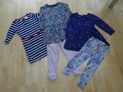 NEXT BLUEZOO TU H&M girls 5 piece clothes bundle dress joggers leggings AGE 4 -5