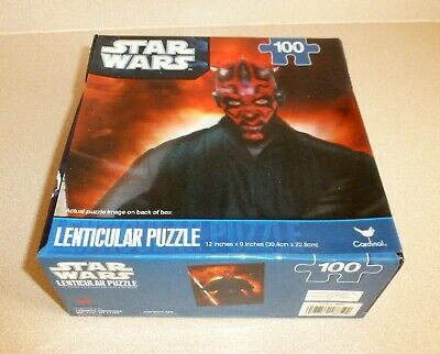 Star Wars Puzzle Darth Maul Lenticular 100 Pieces NEW FACTORY SEALED Cardinal