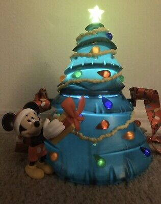 Disney Parks Mickey Light Up Tree Popcorn Bucket Christmas Holidays 2019 New