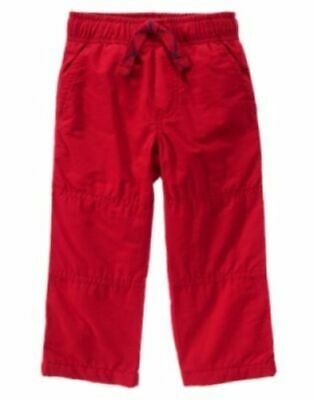 GYMBOREE NORTH POLE PARTY TAN FLEECE LINED GYMSTER ACTIVE PANTS 2T 3T NWT