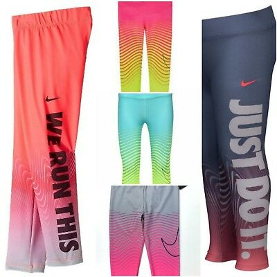 NWT NIKE DRI-FIT Logo Leggings Little Girls (4, 6, 6X) SELECT SIZE AND COLOR