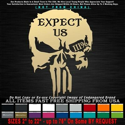 Expect us Flag Stars Left We Are Everywhere 3/% Oath Keeper Molan Decal Sticker