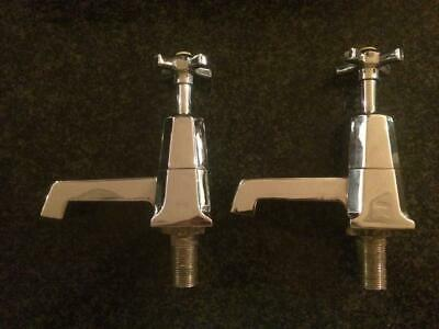 Antique Vintage Art Deco Shanks MWB Bath Taps
