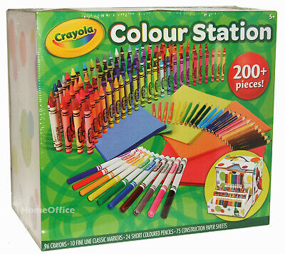 Crayola Colour Station 200 Piece Markers Pencils Crayons Plus Paper