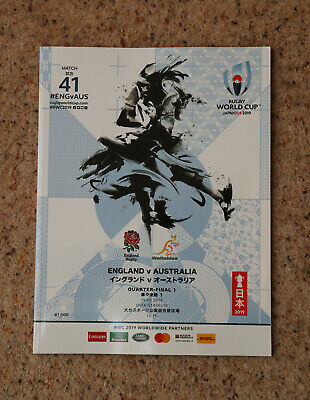 England v Australia Rugby World Cup Programme 2019