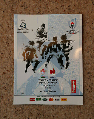 Wales v France Rugby World Cup Programme 2019