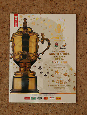 England v South Africa Rugby World Cup Final Programme 2019