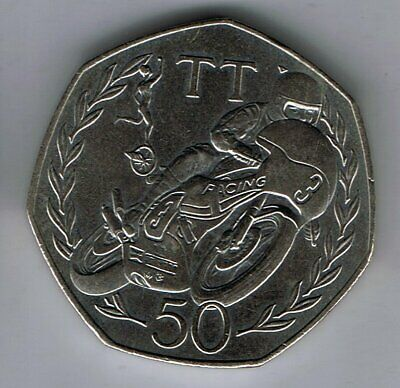 1981 Isle of Man 50p Fifty Pence coin : TT