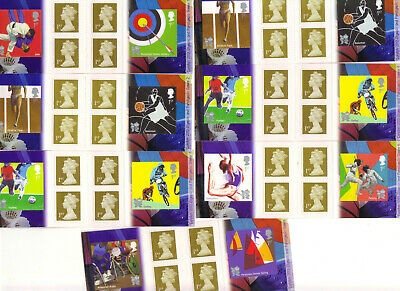 14 x 6 Royal Mail First Class Stamps Booklets OLYMPIC GAMES 2012  FV £58+