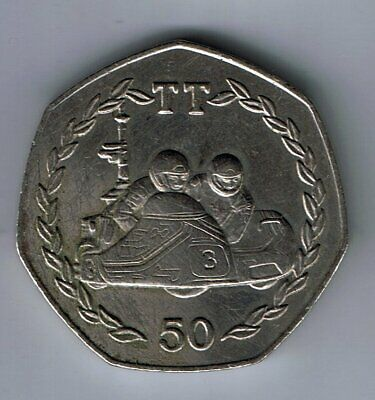 1984 Isle of Man 50p Fifty Pence coin : TT