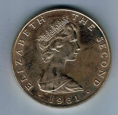 1981 Isle of Man Five Pounds £5 coin